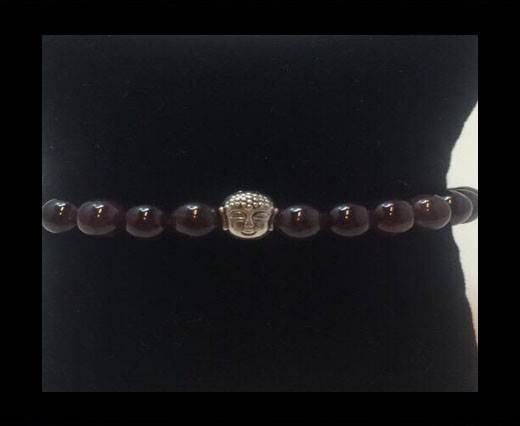 Buy Natural Stone Bracelet 15 Amethyst at wholesale prices