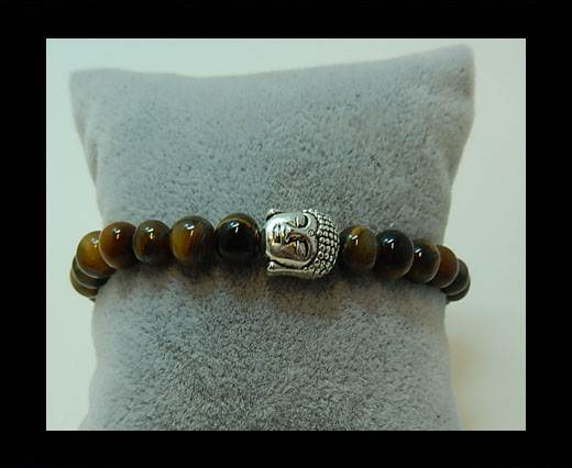 Buy Natural Stone Bracelet 3 Brown at wholesale prices