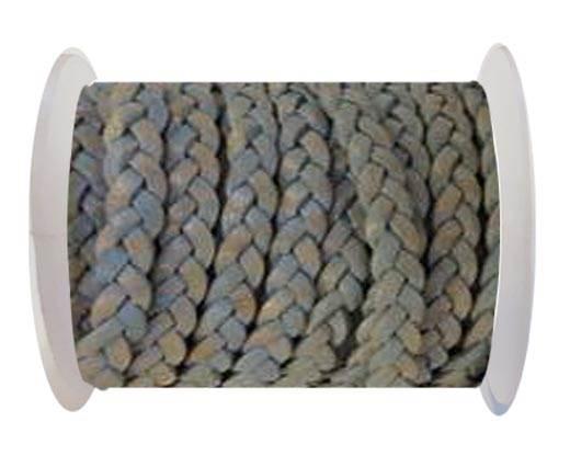 Choti-Flat braided leather 3 ply 5mm - SE-FPB-23