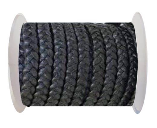 Choti-Flat braided leather 3 ply 5mm - SE-FPB-30