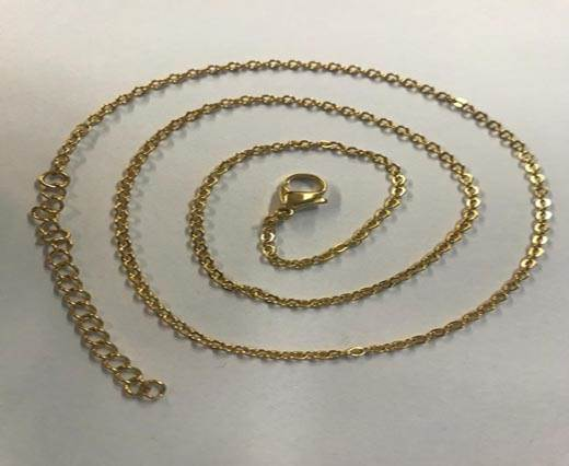 Buy Steel chain item number-28 0,5mm- gold at wholesale prices