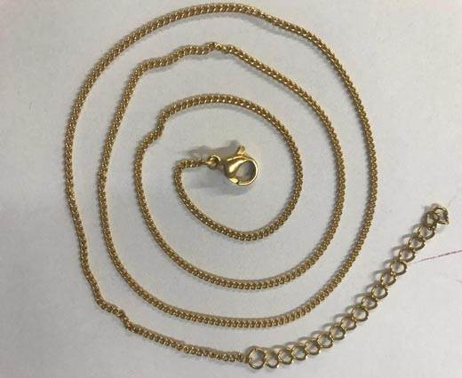 Steel chain item number-31 0.4mm- gold