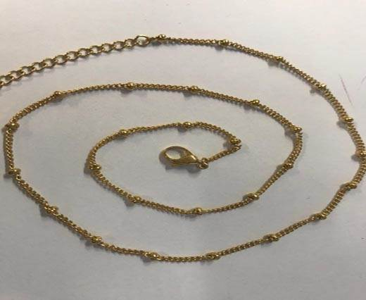Steel chain item number-35 0.5mm- gold