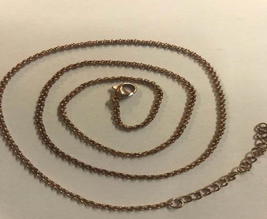 Steel Chain Item 12 2mm Rose Gold - ready chain