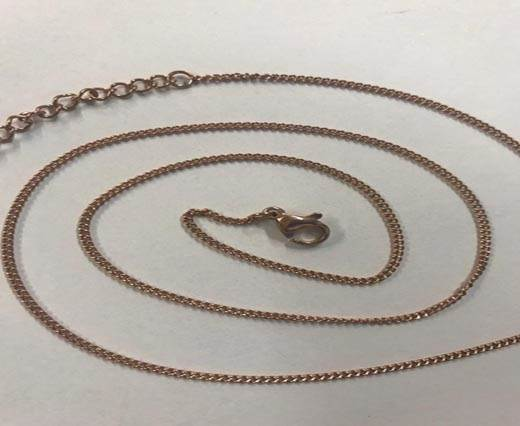 Steel Chain Item 29 0.4mm Rose Gold - ready chain