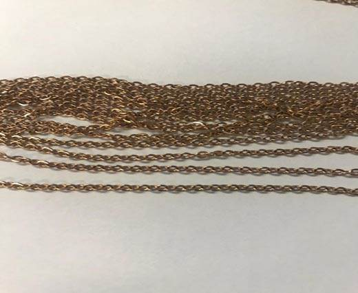 Buy Steel Chain Item 31 Rose Gold -0.4mm at wholesale prices