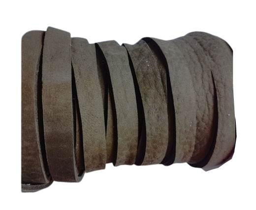 Nubuck Flat - 5mm - MEDIUM BROWN
