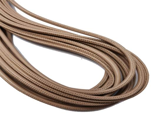 Round Stitched Nappa Leather Cord-4mm-old rose