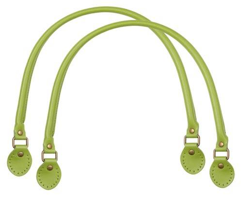 Leather-Bag Handle-Style 2 - Olive Green
