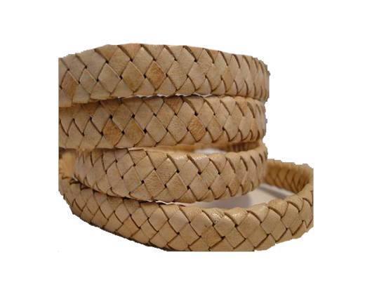 Oval Regaliz braided cords - Natural