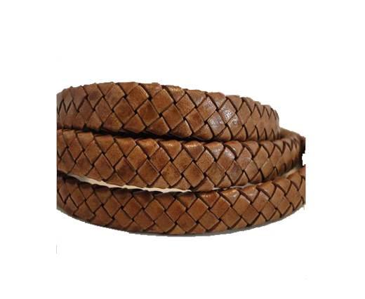 Oval Regaliz braided cords - SE-PB-10 - Walnut