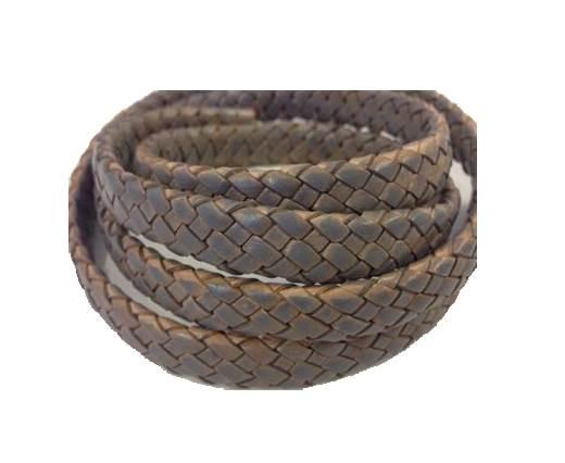 Oval Regaliz braided cords - SE-PB-grey