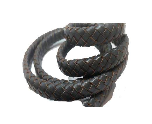 Oval Regaliz braided cords - SE Dark Grey