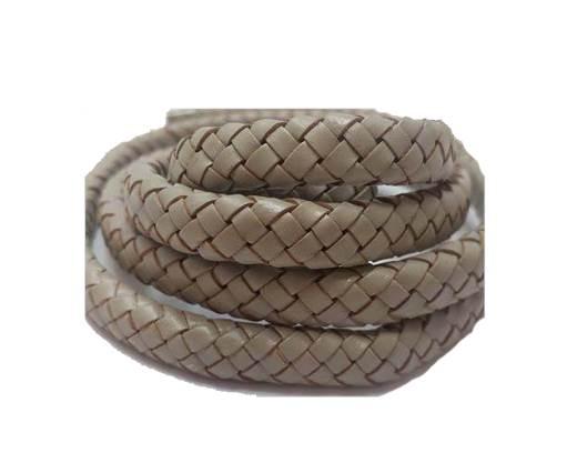 Oval Regaliz braided cords - SE Light Grey
