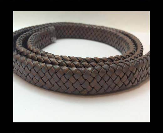 Oval Regaliz braided cords - SE.PB.Dark Grey