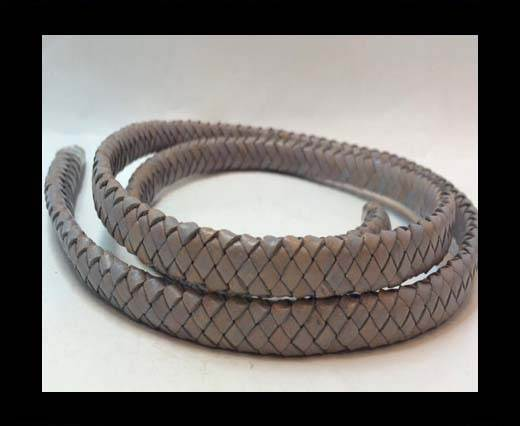 Oval Regaliz braided cords - SE.PB.Light Grey