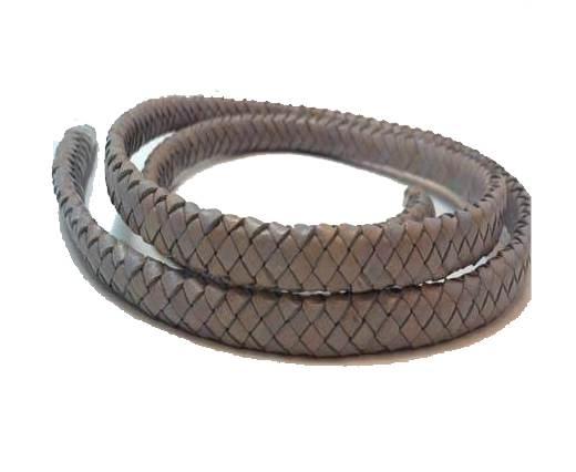 Oval Regaliz braided cords - SE.PB.Light Grey