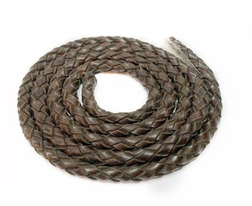 Oval Regaliz braided cords-11*6.3mm-LIGHT BROWN