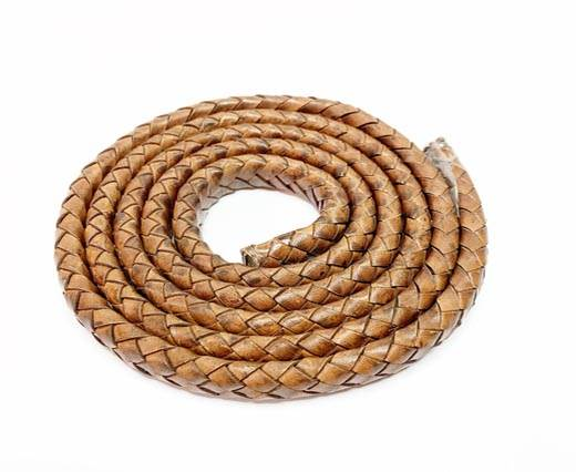 Oval Braided Leather Cord-19*5mm-SE-DB-D03-1m