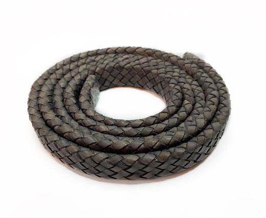 Oval Braided Leather Cord-19*5mm-SE-DB-D20