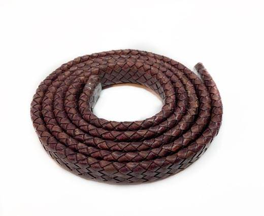 Oval Braided Leather Cord-19*5mm-SE-PB-121