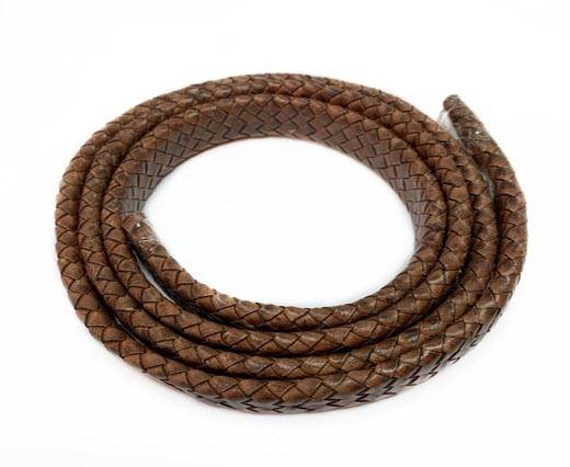 Oval Braided Leather Cord-19*5mm-SE-DB-103