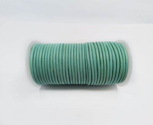 Round leather cord-2mm-PASTEL GREEN