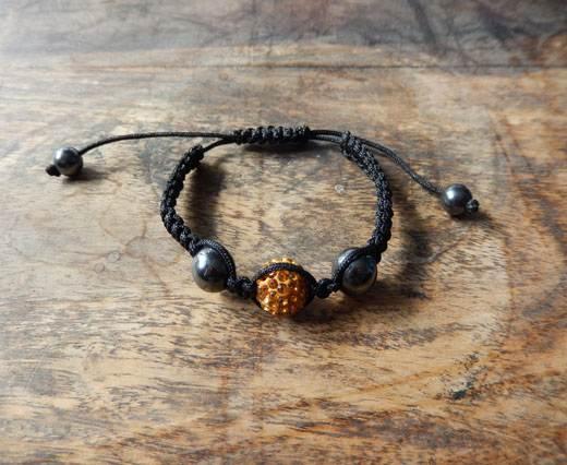 PearlBracelet04 - Black-Orange