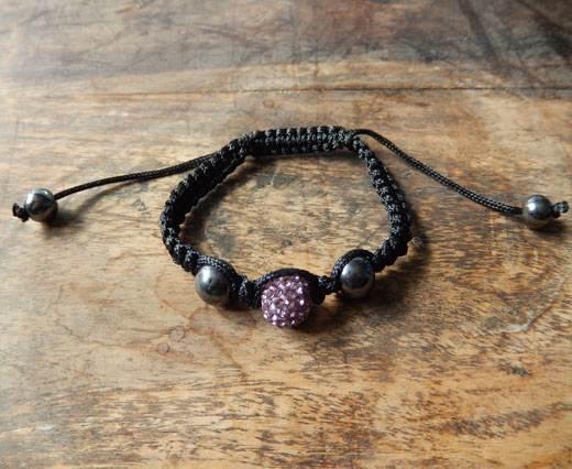 PearlBracelet05 - Black-Purple