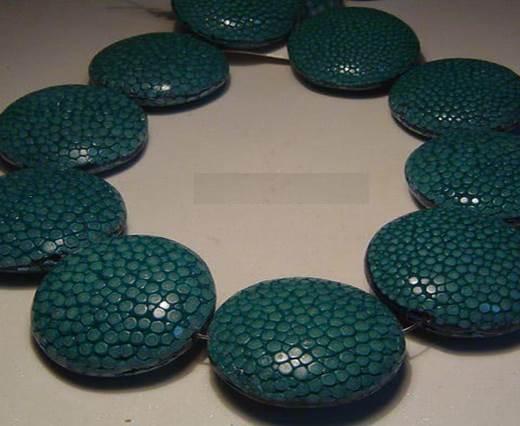 Sting Ray Beads - 25mm-Petrol Blue-Lenses