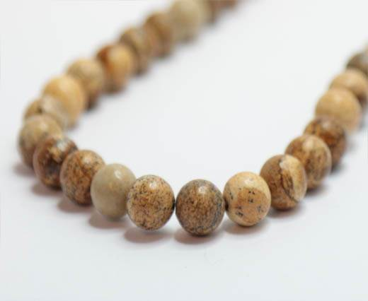 Natural Stones-8mm-Picture Jasper