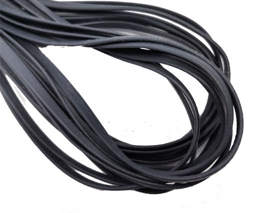 Flat Nappa Leather cords - 5mm - Pigeon blue
