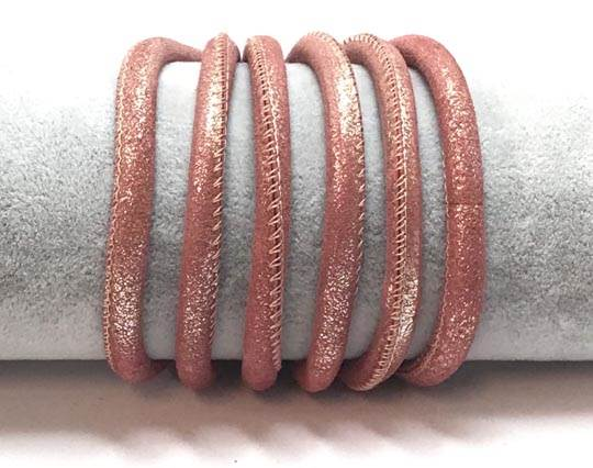Real Nappa Suede Round-6mm-Pink gold