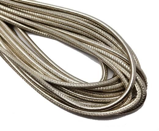 Round Stitched Nappa Leather Cord-4mm-platinum2