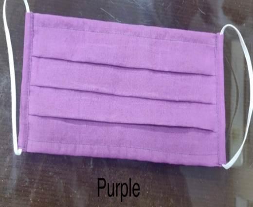 Purple  Washable Cotton Mask