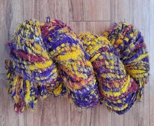 Rough-Silk-Purple Yellow Banana Yarns