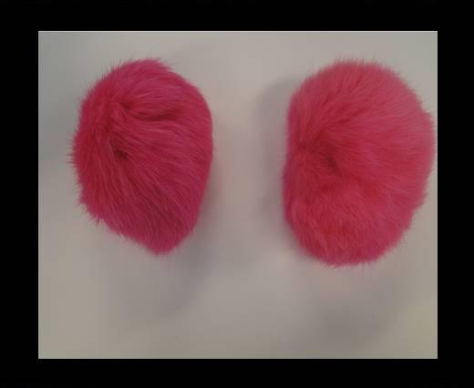 Buy Rabbit Fur Pom Pom-Fuchsia-5cms at wholesale prices
