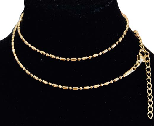 Buy Steel chain item number-33 1.5mm gold at wholesale prices