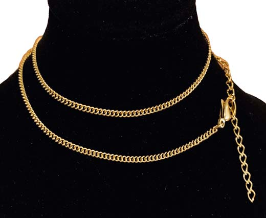 Steel chain item number-34 0.5mm- gold