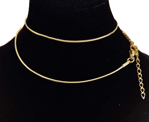 Steel chain item number- 50 0.9mm gold
