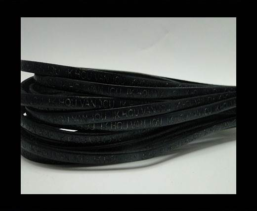 Real Flat Leather-5MM-IK HOU VAN JOU-Balck