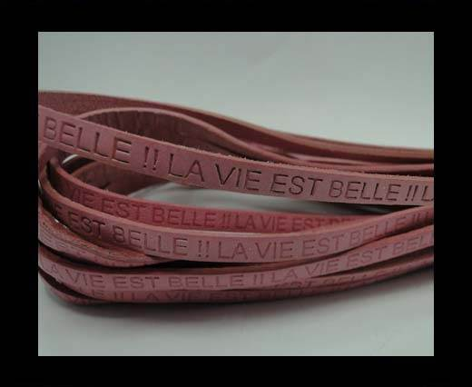 Real Flat Leather-LA VIE EST BELLE-Pink