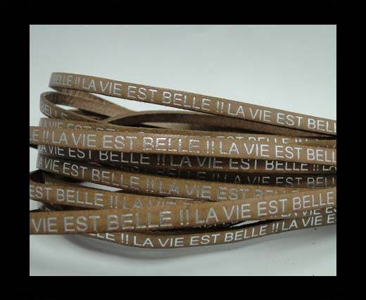 Real Flat Leather-LA VIE EST BELLE-Silver-beige