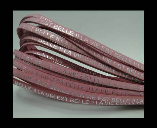 Real Flat Leather-LA VIE EST BELLE-Silver-pink