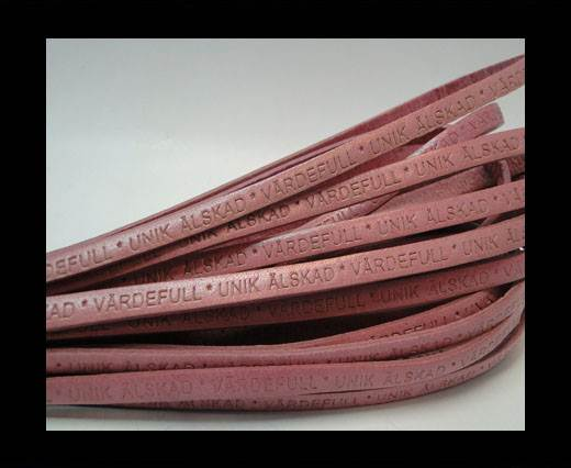 Real Flat Leather-VARDEFULL UNIK ALSKAD * -pink-5mm