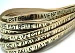 Real Flat Leather-LA VIE EST BELLE - Gold
