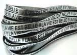 Real Flat Leather-LA VIE EST BELLE - Silver