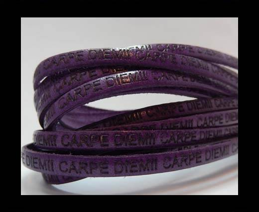 Real Flat Leather-CARPIDIEM-Purple