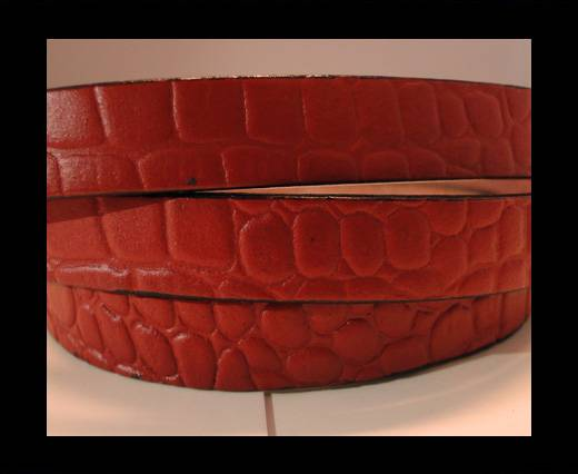 Buy Real Leather Croco Print - Dark Red-10mm at wholesale prices