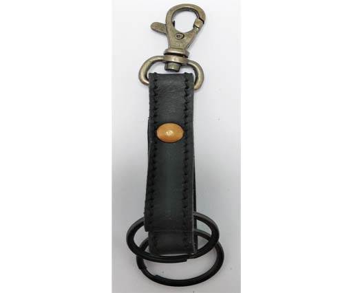 Buy KeyChain-Plain-style1-DOUBLE -  BLACK at wholesale prices